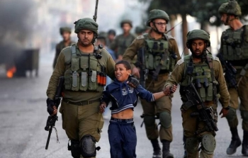 اعتقال اطفال احتلال