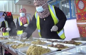 تكية افطار مساعدات فقراء