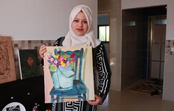 الفنانة هبة ابو الكاس